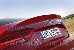 Спойлер на крышку сабля багажника Audi A5 S5 купе sline 2 двери 2009-2015
