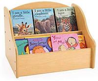 """Стеллаж для игрушек и книг """"Аликорн"""" ваниль"""