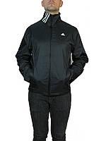 Ветровка мужская на сетке,лето-весна адидас классика,adidas р-р 46-52,черная.Предоплата