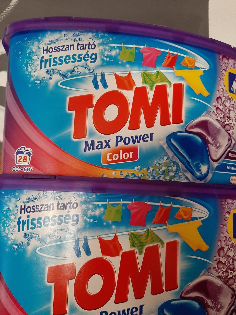 Kапсулы Tomi Max Power  Color для стирки цветного с кондиционером  , 28 шт, Венгрия