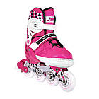 Роликовые коньки Nils Extreme NA13911A Size 31-34 Pink, фото 4