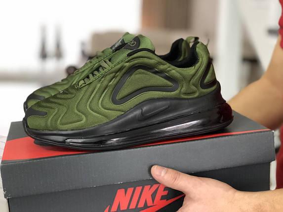 Мужские кроссовки зеленые текстиль15\88872, фото 2