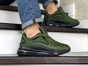 Мужские кроссовки зеленые текстиль15\88872, фото 3