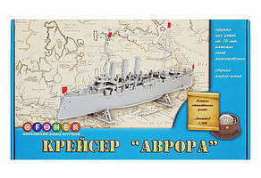 """Крейсер """"Аврора"""". Сборная модель корабля в масштабе 1/400. ОГОНЁК C-181"""
