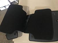 Коврики в салон ворс Fiat 500 (2008-) /Чёрные, серая окантовка