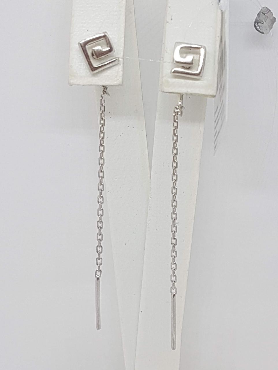 Срібні сережки-протяжки. Артикул 3524281400В