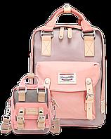 Рюкзак Doughnut розовый + сумочка Doughnut в подарок Код 11-0017