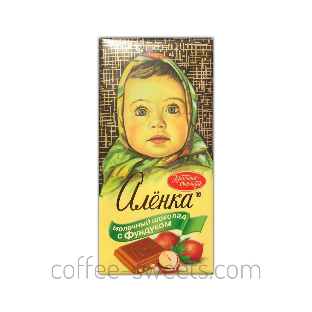 Шоколад Алёнка 100г с Фундуком молочный Красный Октябрь