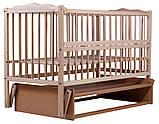 Кровать Babyroom Веселка маятник, откидной бок DVMO-2  бук светлый (натуральный), фото 3