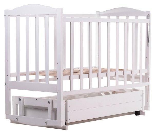 Ліжко Babyroom Зайченя Z301 маятник, ящик біла