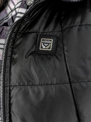 Чорна стьобана жилетка з плащової тканини на синтепоні великого розміру Україна Розміри: 50-52, 54-56, 58-60, 62-64, фото 2