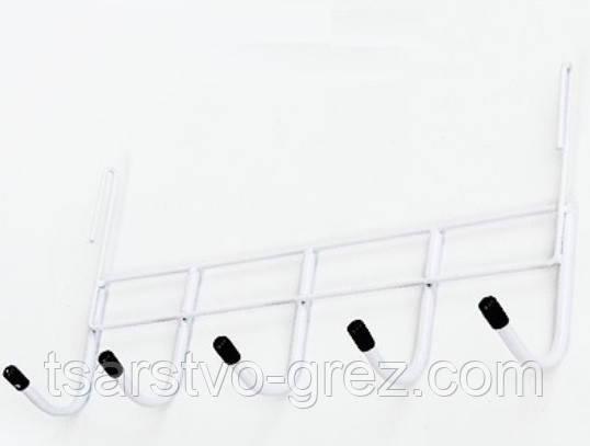 Вешалка на 5 крючков Белая
