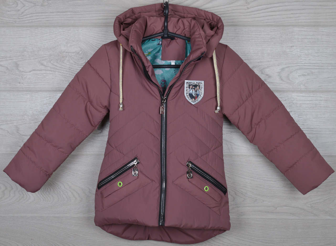 """Куртка детская демисезонная """"School"""" 3-4-5-6-7 лет (98-122 см). Фрезовая. Оптом."""