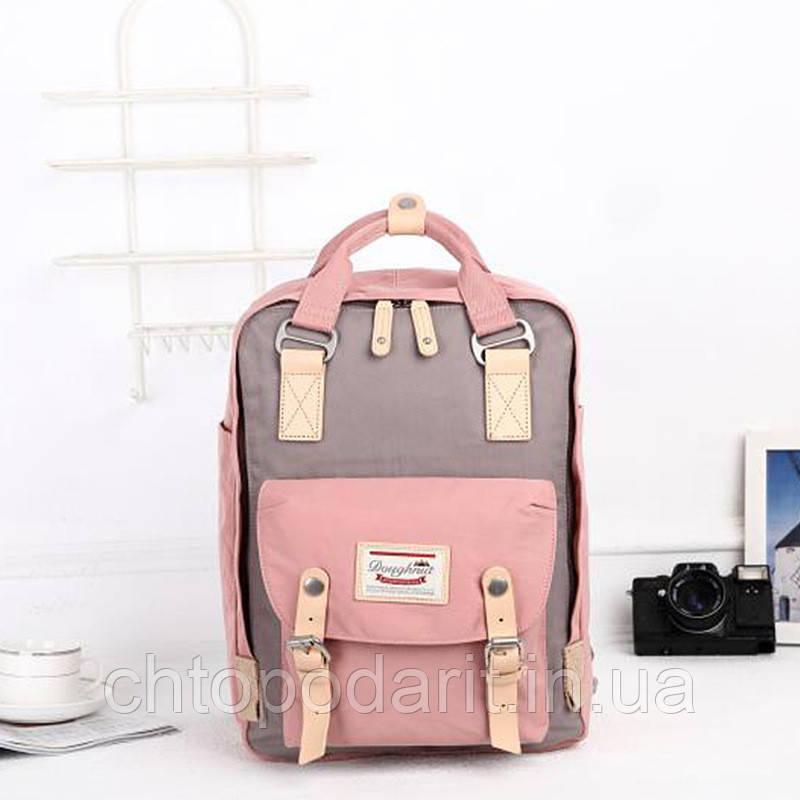 Женский городской рюкзак Doughnut Macaroon розовый Код 11-0027