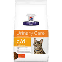Лечебный сухой корм для котов Hill's Prescription Diet Feline Urinary Care c/d Multicare Chicken 0,4 кг