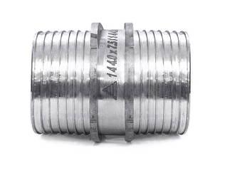 Пресс-муфта равнопроходная, нержавеющая сталь, без гильз