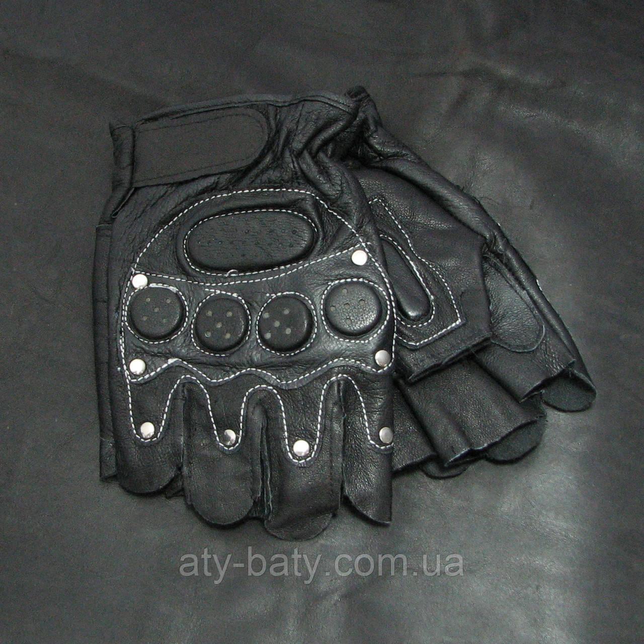 Перчатки беспалые кожаные BC-168