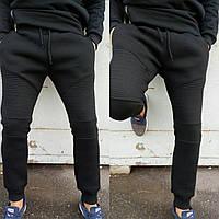 Спортивные штаны трикотаж трехнить (без флиса) мужские черные Турция О Д