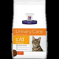 Лечебный сухой корм для котов Hill's Prescription Diet Feline Urinary Care c/d Multicare Chicken 1,5 кг