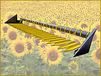 Приспособление для уборки подсолнечника на комбайны Славутич, Скиф, Дон, Енисей, Нива, фото 1