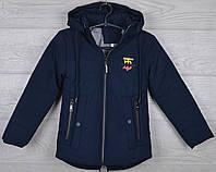 """Куртка детская демисезонная """"Burberry"""" 3-4-5-6-7 лет (98-122 см). Темно-синяя. Оптом., фото 1"""