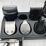 Триммер универсальный 11в1 машинка для стрижки бритва Gemei GM-562, фото 4