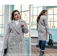 / Размер 48-50,52-54,56-58,60-62 / Женское стильное пальто большого размера / 775Б-Бордо