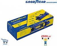 Гидравлический подкатной домкрат Goodyear GY-PD-02 2Т 340мм с резин. проставкой порога в картонной коробке