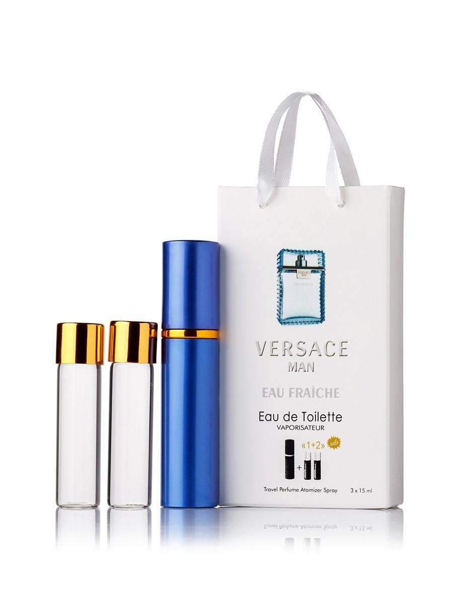 Мини-парфюм с феромонами мужской VERSACE Man Eau Fraiche 3х15 мл
