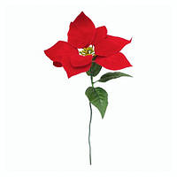Цветок рождественник, пуансетия для декора елки на Новый год и Рождество