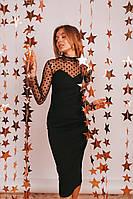 Платье  стильное с сеточкой  в расцветках 29766, фото 1