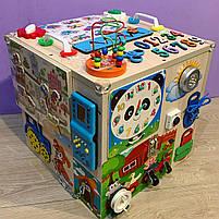 """Развивающий куб """"Бизикуб"""" Мега кубик для развития ребенка 40*40*40 см натуральная основа, фото 2"""