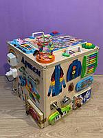 """Развивающий куб """"Бизикуб"""" Мега кубик для развития ребенка 40*40*40 см натуральная основа, фото 6"""
