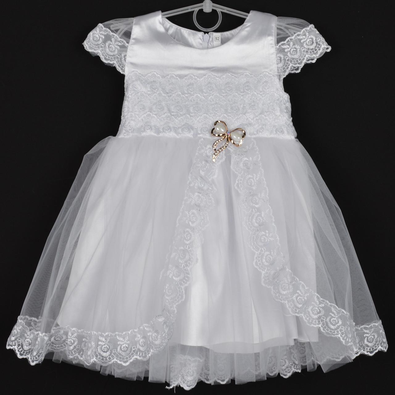 """Платье детское """"Милашка"""" 2-3-4-5-6 лет (92-116 см). Белое. Оптом"""