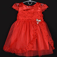 """Платье детское """"Милашка"""" 2-3-4-5-6 лет (92-116 см). Красное. Оптом, фото 1"""