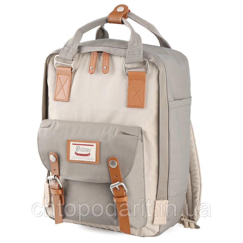 Женский городской рюкзак Doughnut Macaroon серый Код 11-0061