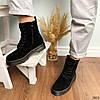 Ботинки женские черные эко-замша :), фото 6