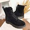 Ботинки женские черные эко-замша :), фото 10