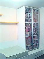 Шкаф-купе с цветными фото