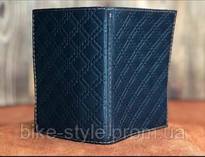 Кожаная обложка на паспорт ромб