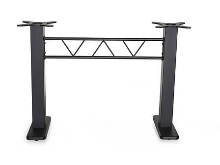 Основание для прямоугольного стола с квадратными стойками MA820 двойная h71 см., фото 2
