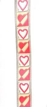 Стрічка сатин 15 мм Сердечка