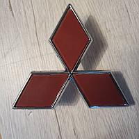 Значок эмблема на капот, багажник Mitsubishi Мицубиси 90*100 мм