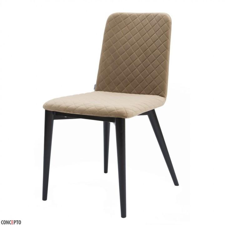 Обеденный стул Stella (Стелла) теплый бежевый, велюр от Concepto