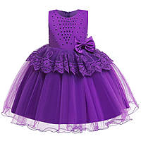 """Нарядное платье для девочки """"Изабель"""" фиолетовое"""