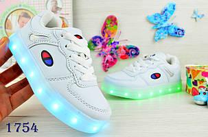 Кроссовки детские  демисезонные черные весна-осень LED  c USB зарядкой 26-28р., фото 2
