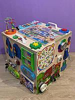 """Развивающий куб """"Бизикуб"""" Мега кубик для развития ребенка 40*40*40 см натуральная основа, фото 5"""