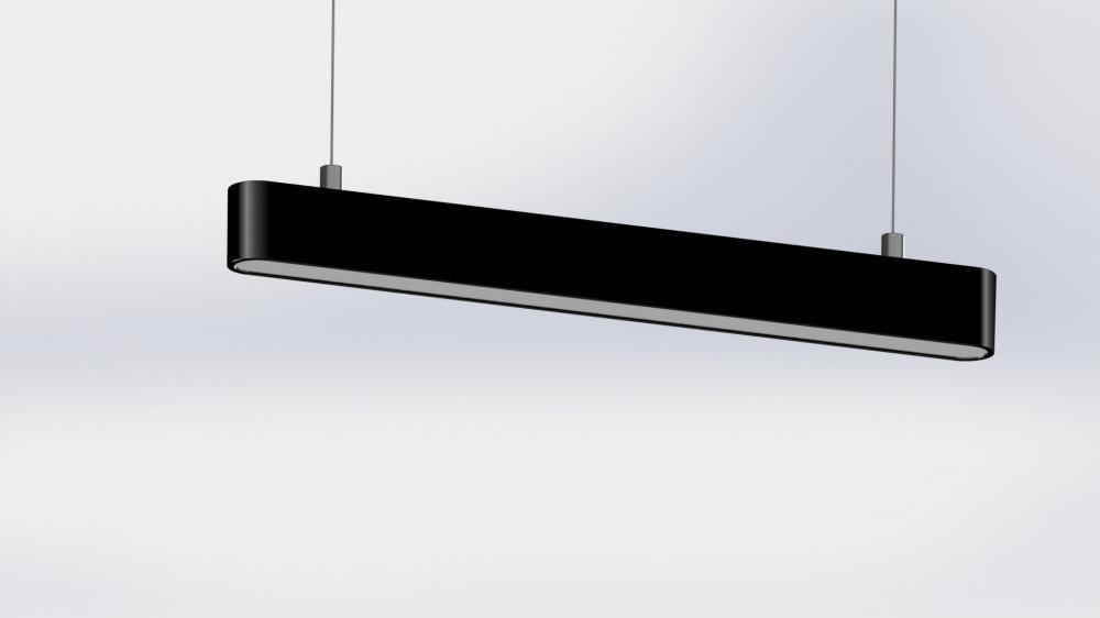 Світильник світлодіодний  LINEA-100 40Вт 4000K 4000лм HC-002-040-32-УХЛ-IP20 лінійний підвісний чорний 9242