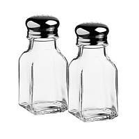 Набор емкостей стеклянных для специй с железной крышкой Pasabahce Tuzluk Biberlik 100мл. 2шт (80221)