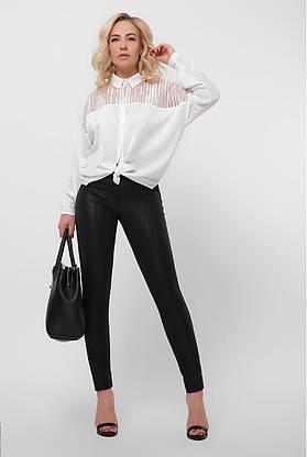 Нарядная белая шелковая блузка, фото 3